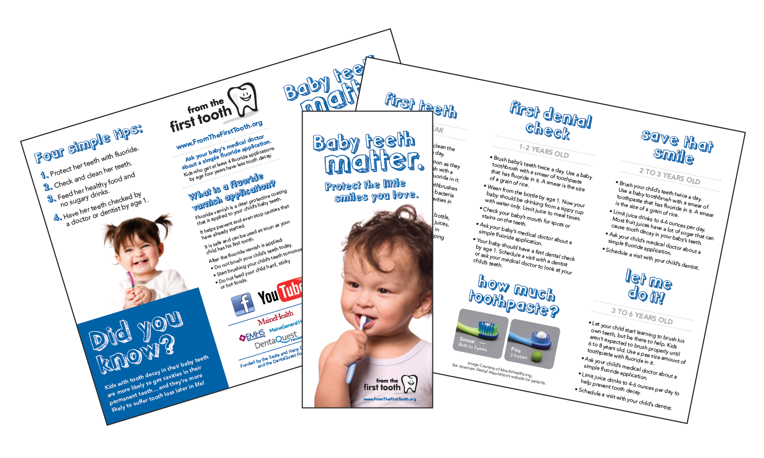 First Tooth Tri-fold Brochures