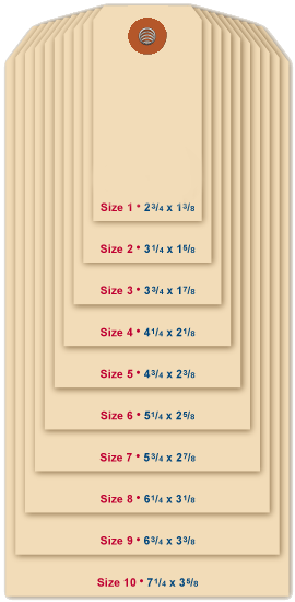 Standard Tag Sizes